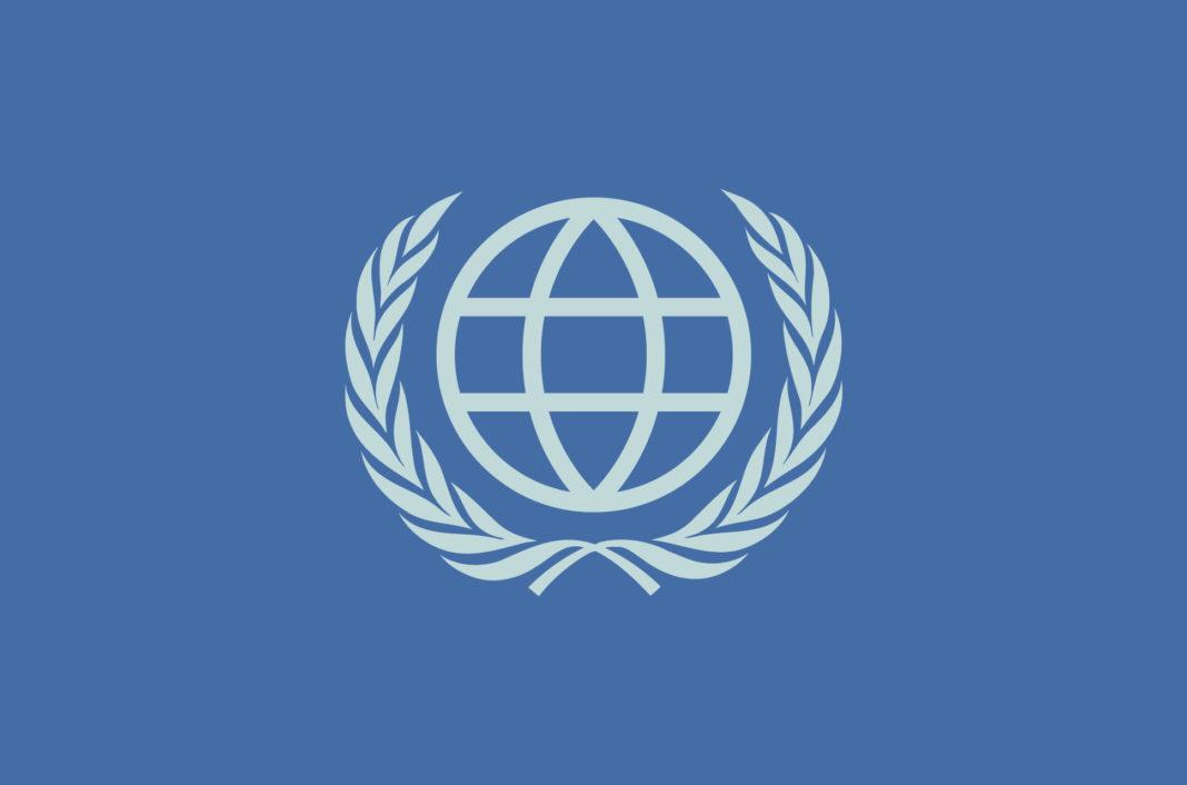 Globe symbol with laurels