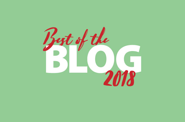"The words ""Best of the Blog 2018"" on a soothing green background."