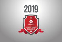 2019 written above the ExpressVPN scholarship logo.