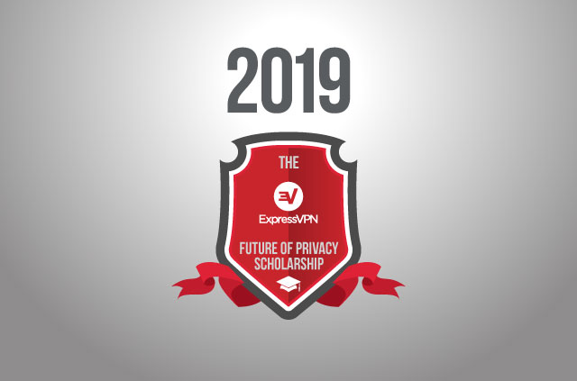 2019 written above the ExpressVPN scholarship logo.