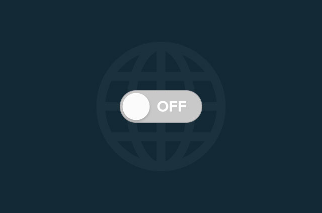 "Slide button toggled to ""off"" in front of an internet icon."