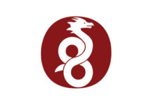 The WireGuard logo: A dragon atop a burgundy oval.