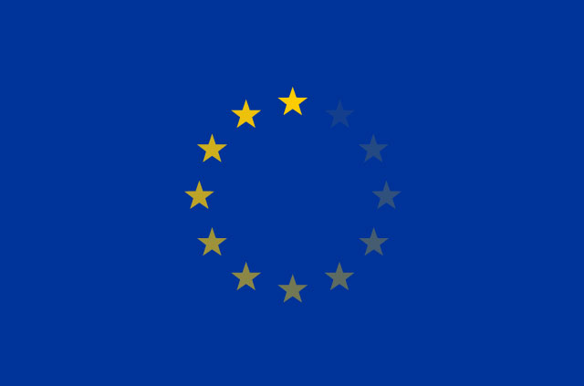 The EU flag buffers.