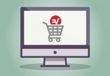 The ExpressVPN logo in a shopping cart.