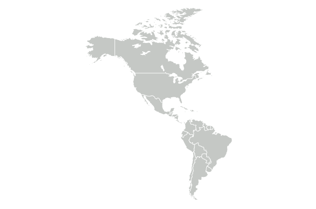 A map of the Americas.