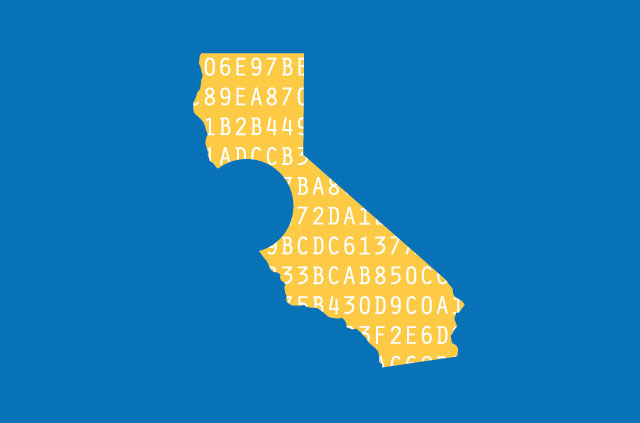 A map of California.