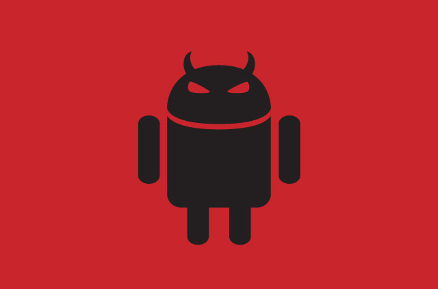 The Android logo, but angry. It looks like it's been infected with WolfRAT.