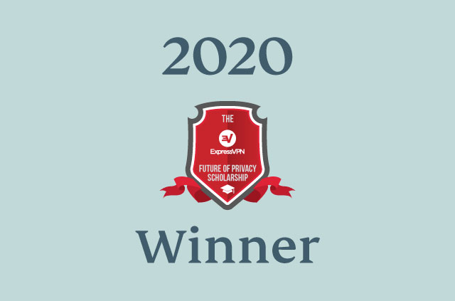 ExpressVPN Scholarship 2020 winner.