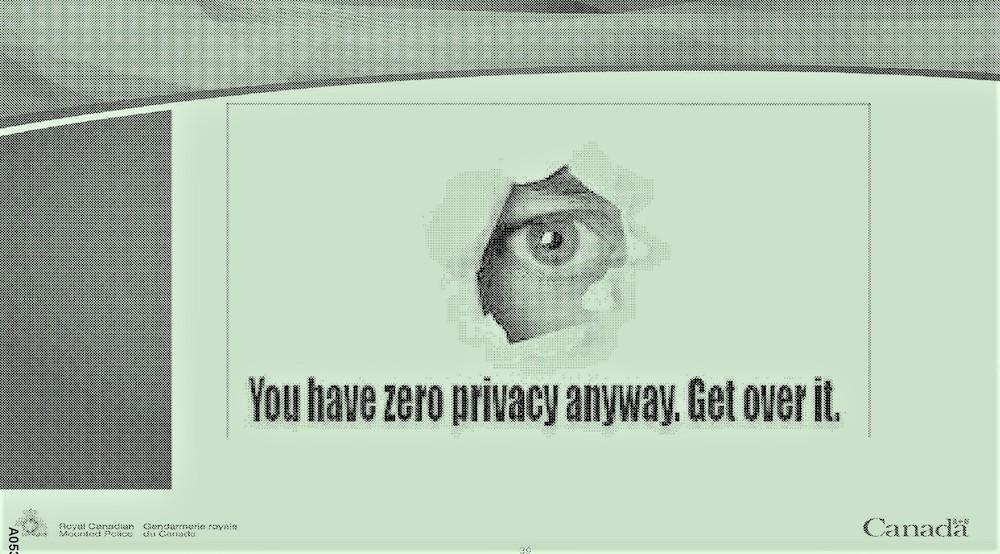 Humor from RCMP's training slides