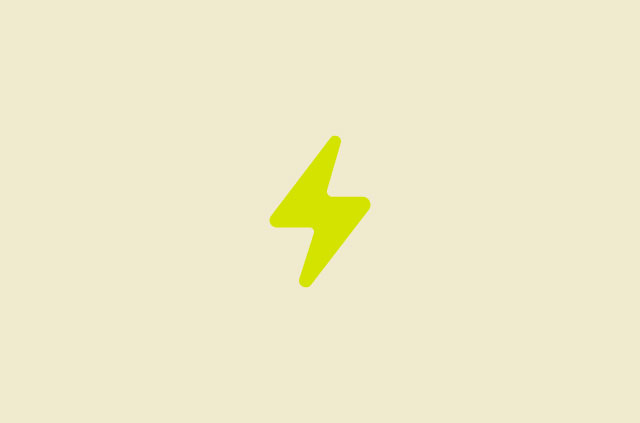 Bright yellow lightning rod
