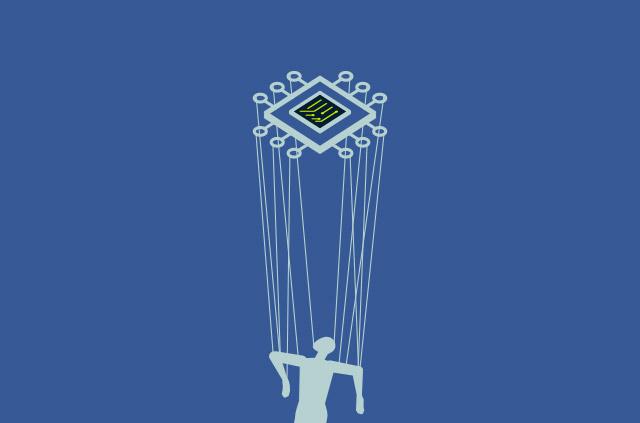 Microchip manipulating marionette