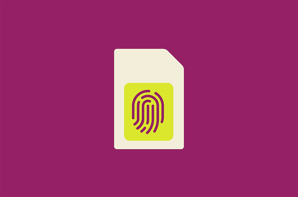 SIM-card with fingerprint biometric