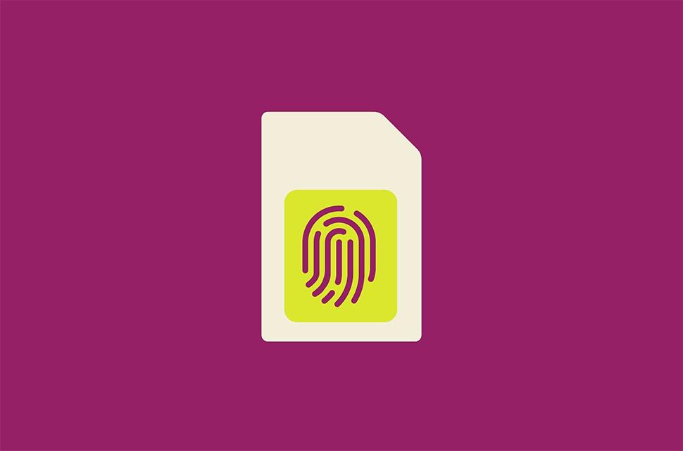SIM-card with fingerprint biometric