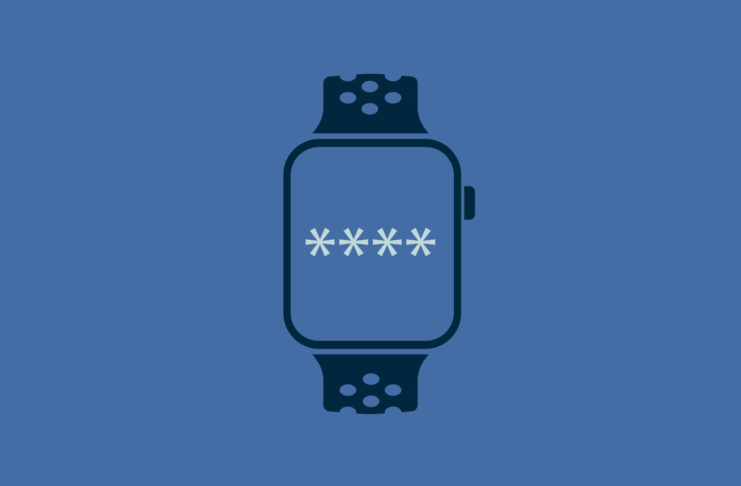 Smart watch with four asterisk password.