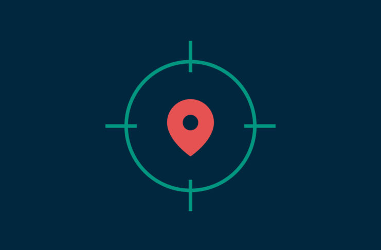 Location symbol in the crosshairs.