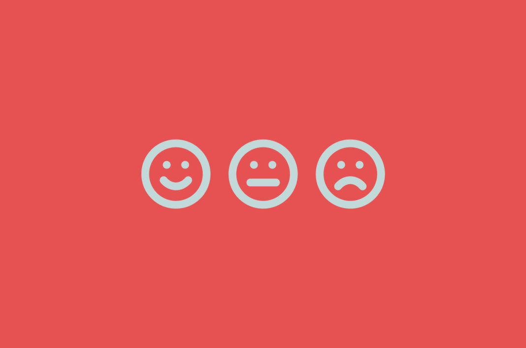 Three emojis showing emotions.