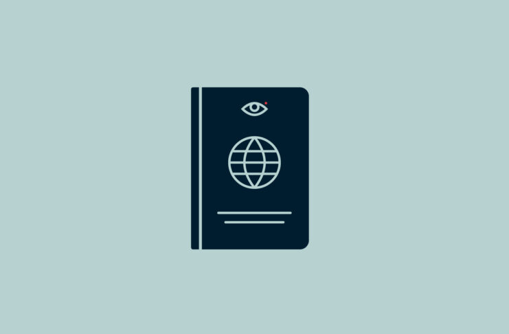 Passport with an eye.