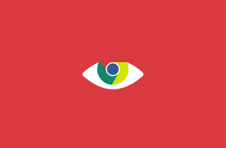 Chrome logo as an eye.