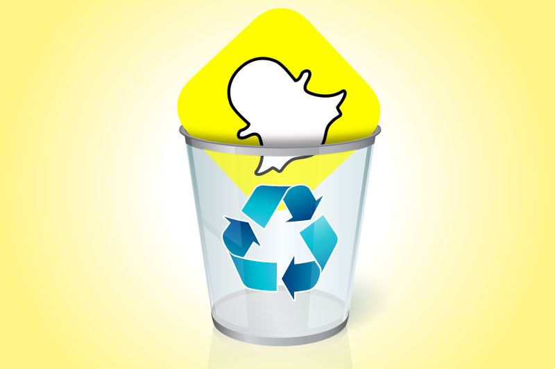 How do you delete all your snaps on snapchat